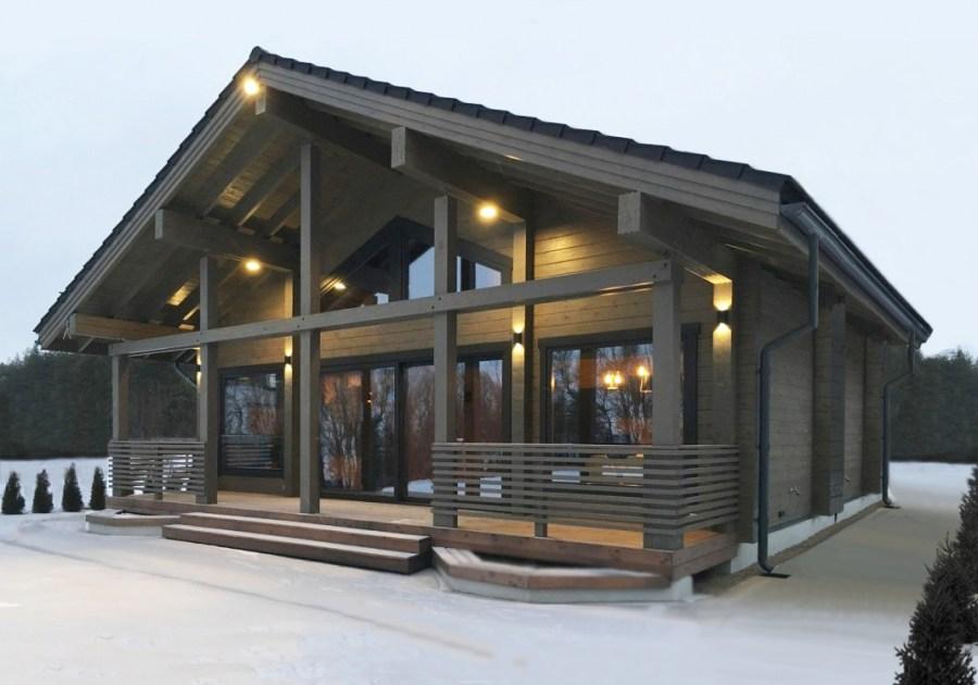 Дома из клееного бруса: современные и комфортабельные