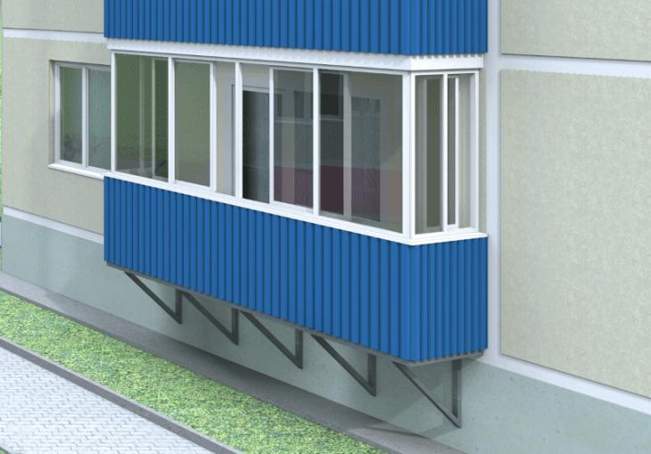 Технологии и виды обшивок балконов снаружи