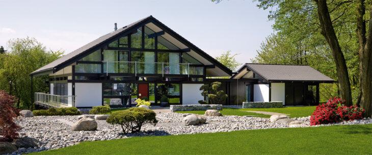 Дома в стиле модерн с элементами фахверк своими руками