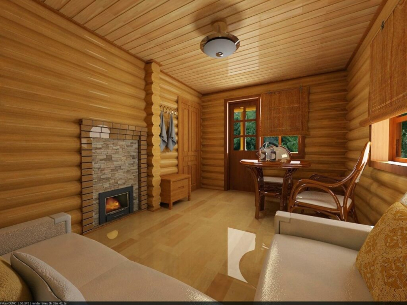 Модный дизайн: комфортная комната отдыха в бане