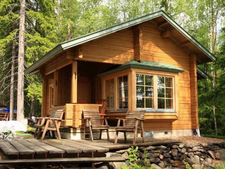 Дизайн дачного дома небольшого размера